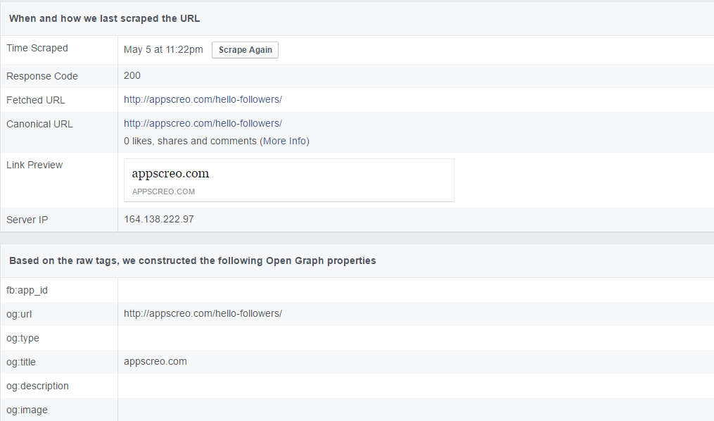 How to Test and Fix Facebook Sharing Wrong Information Using Facebook Open Graph Debugger? 1