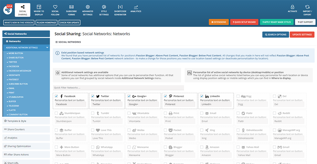 Easy Social Share Buttons 4.1.9 2