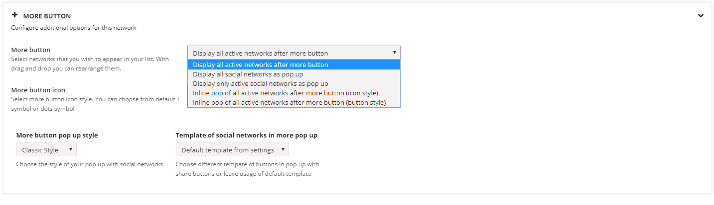 How to set up +more button feature? 5