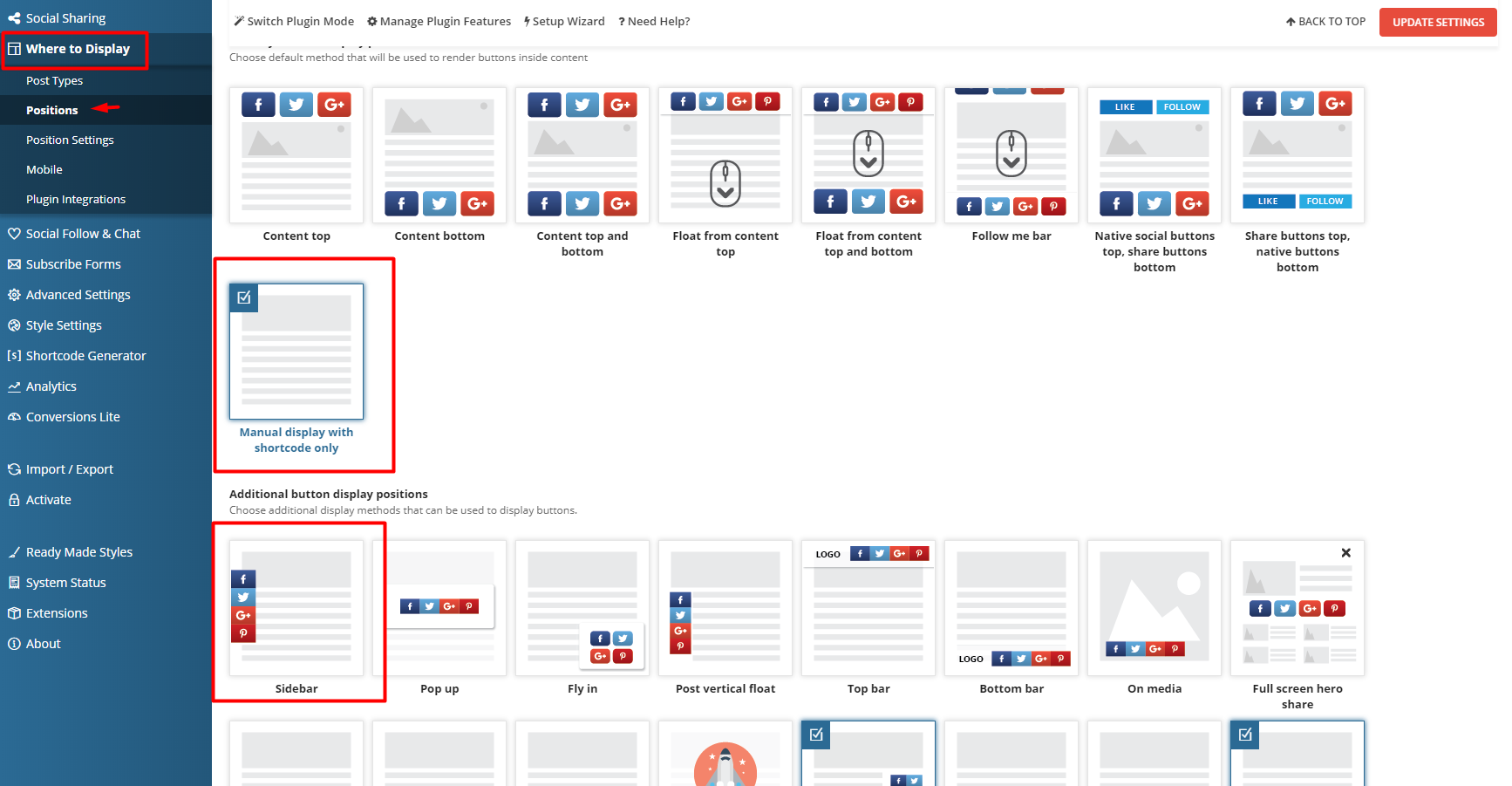How to Set Up Right Sidebar with Easy Social Share Buttons 3