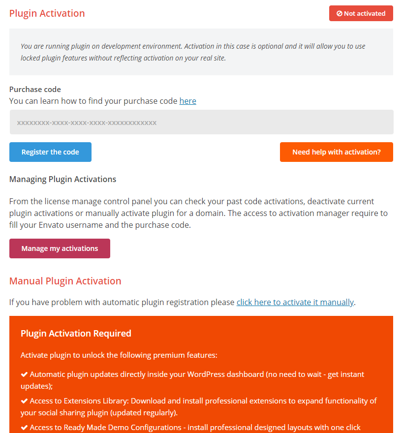 How to Activate, Manage or Deactivate Your License for Easy Social Share Buttons 2