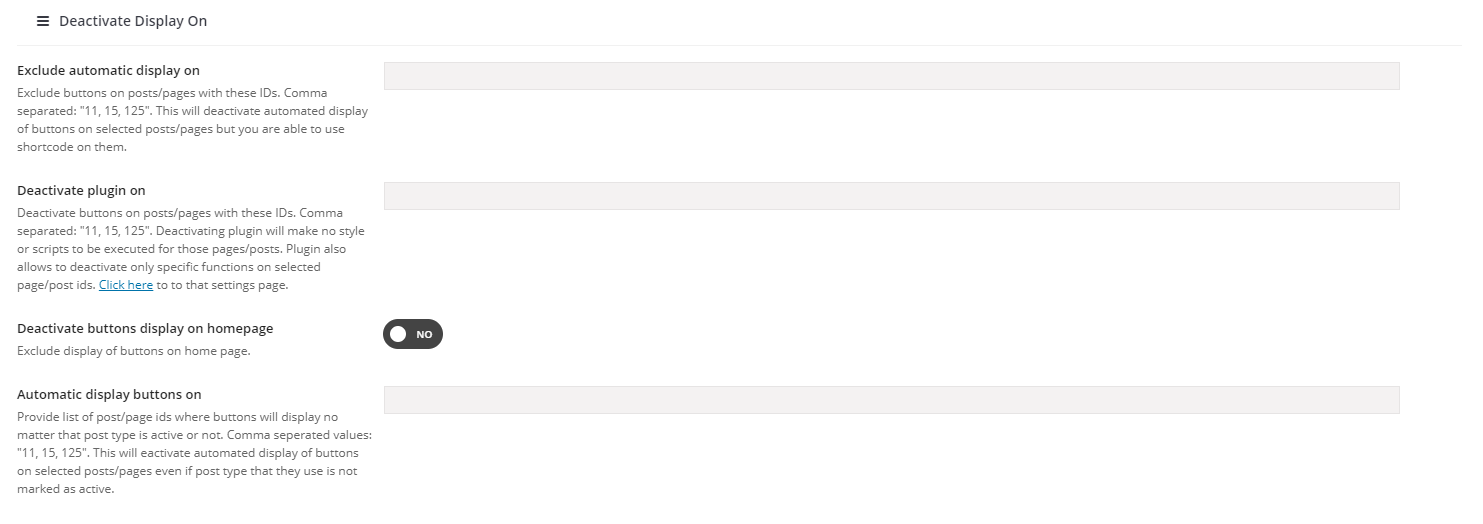 Choosing Post Types & Positions Where Buttons Will Appear 4
