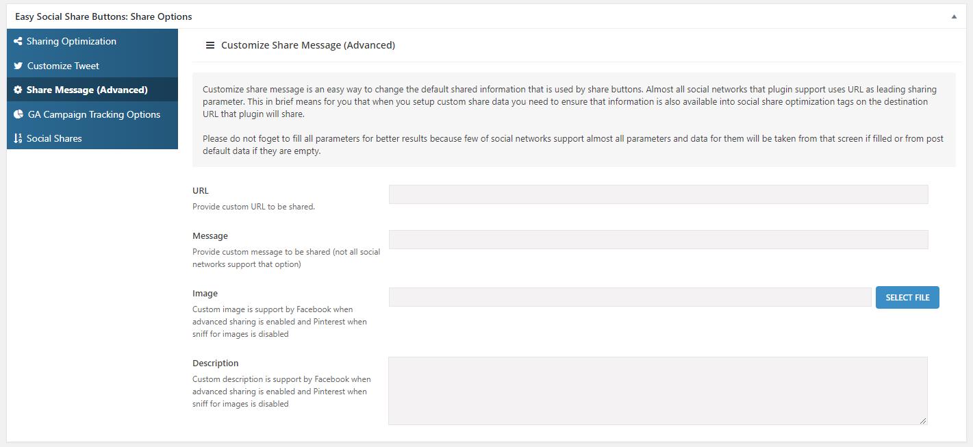 How to Setup Custom Share URL for The Social Share Buttons 2
