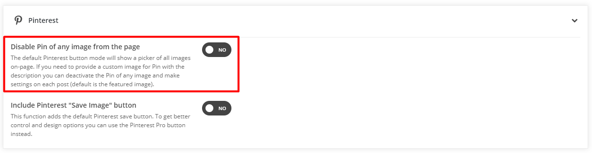 Pinterest Share Button Modes - What is the difference and which of them to use on-site 1