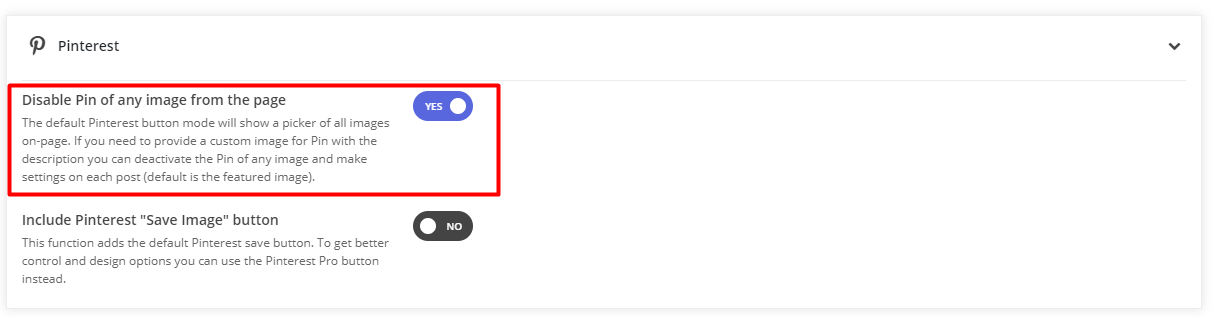 Pinterest Share Button Modes - What is the difference and which of them to use on-site 3