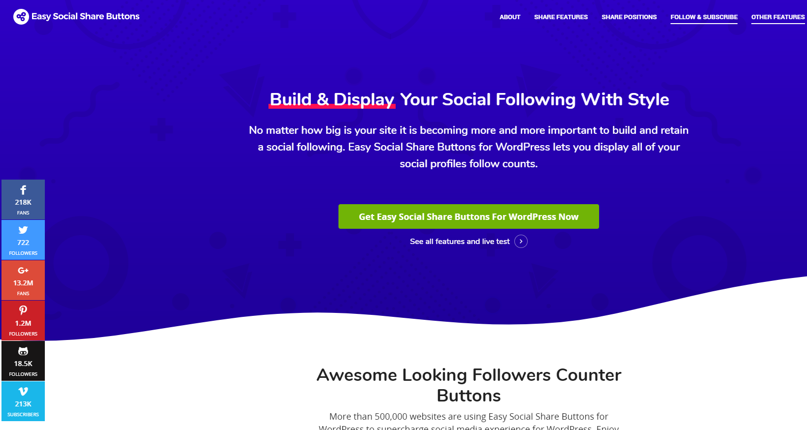 Adding Social Followers Counter as a Floating Sidebar 1