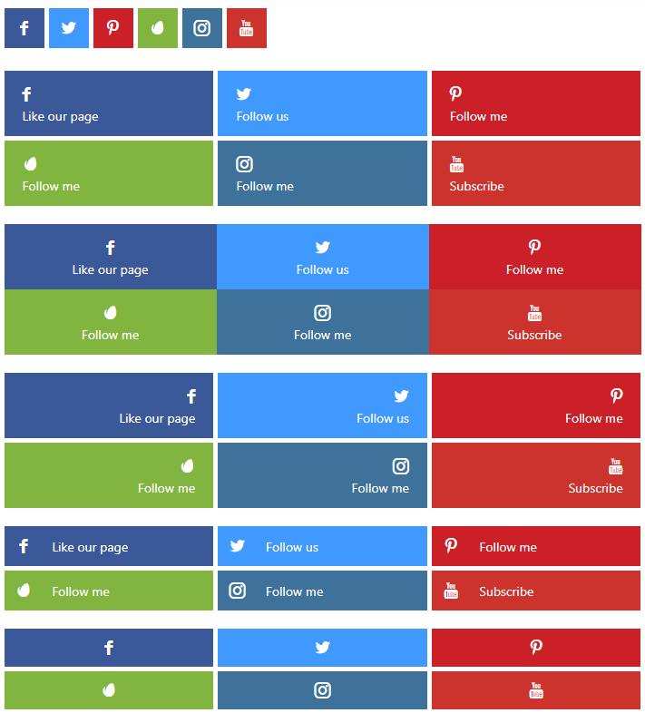 Social Profile Links - General Setup 1