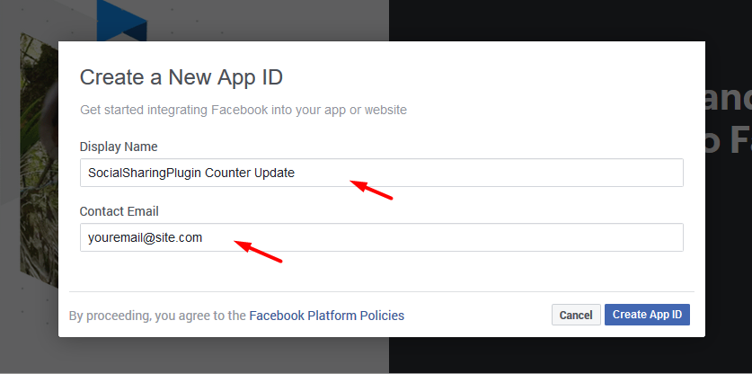 How to Generate Facebook Access Token (Application Based for Share Counters Update) 2