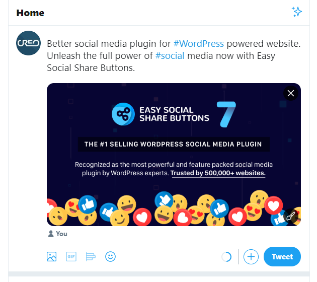 Adding Images to Your Tweet in Easy Social Share Buttons. The Secret Revealed. 2